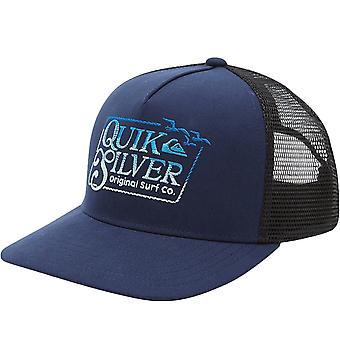 Quiksilver Mens Clean Mess 5 Panel Snapback Trucker Cap Hat - Navy