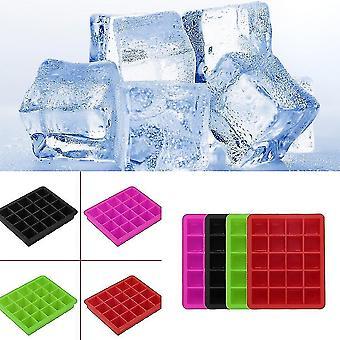 20-hulrom stor kube ispudding gelé maker mold skuffen silikon verktøy