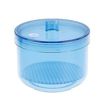 البلاستيك الأسنان Autoclavable التطهير كأس صافي حالة طبيب الأسنان الفموي معدات مختبر الأسنان (الأزرق)