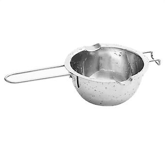 Stainless Steel Chocolate Butter Milt Melt Ting Bowl Long Grip Handle DIY Pastry Cooking Dessert