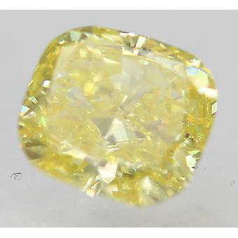 Cert 0,50 Quilate Canary Amarelo Si2 Almofada Aprimorada Diamante Natural 4.82x4.44mm