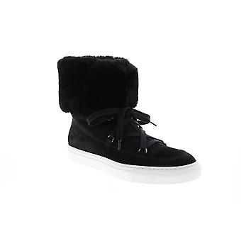 Aquatalia Adult Womens Valarie Suede Shearling Lace Up Boots