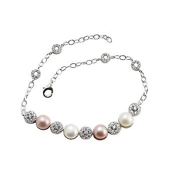 H05 S925 Sterling Silver Fashion Mixed Color Temperament Bracelet Hand Jewelry Simple Bracelet Bridesmaid Gift