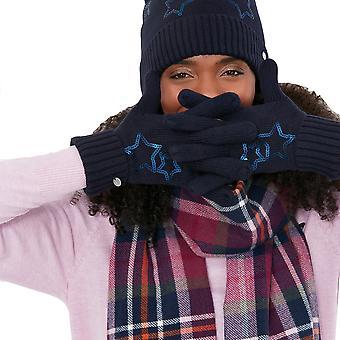Joules Damen Tilda Pailletten Detail Warme Winterhandschuhe
