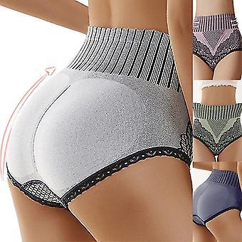 Grau l Damen Höschen Unterwäsche Slip hohe Taille Unterhose weibliche Unterhose zf0373