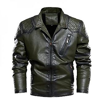 Mens Leather Jacket Motorcycle Jackets Artificial Leather Zipper Fly