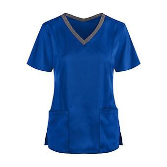 Work Uniform Naisten Kaula Lyhythihaiset paidat