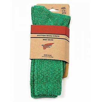 Red Wing 97372 Cotton Ragg Over Dyed Socks - Green/light Green