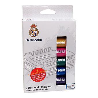 Tempera Real Madrid C.F. White Plastic Metallic (10 gr) (6 pcs)