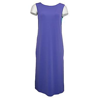 IMAN Boho Chic Robe sans manches Deux couches Violet 691926