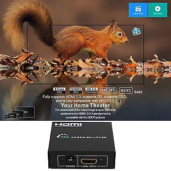 4k * 2k Hd 1 till 2 portar Hdmi Splitter 3d Video Hdmi Switch Switcher Splitter