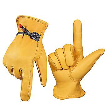 Teplé rukavice, cyklistické rukavice, závodní rukavice, větruodolné rukavice, prodyšné, protiskluzové, Závodní lyžařské dýhy Motocyklové rukavice, Yellow Xl