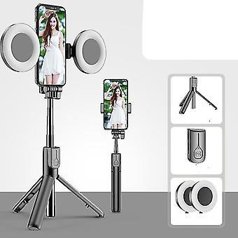 4v1 Bezdrôtová bluetooth selfie stick LED, zvonenie rozšíriteľné vreckové
