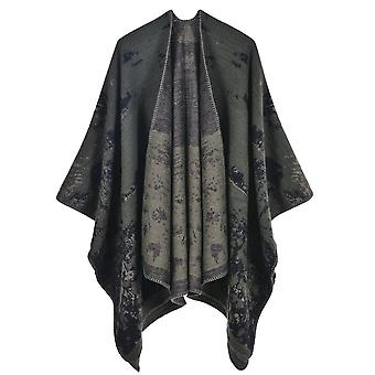 Women's Autumn And Winter Large Size Grass And Green Warmth Scarf Blanket Shawl