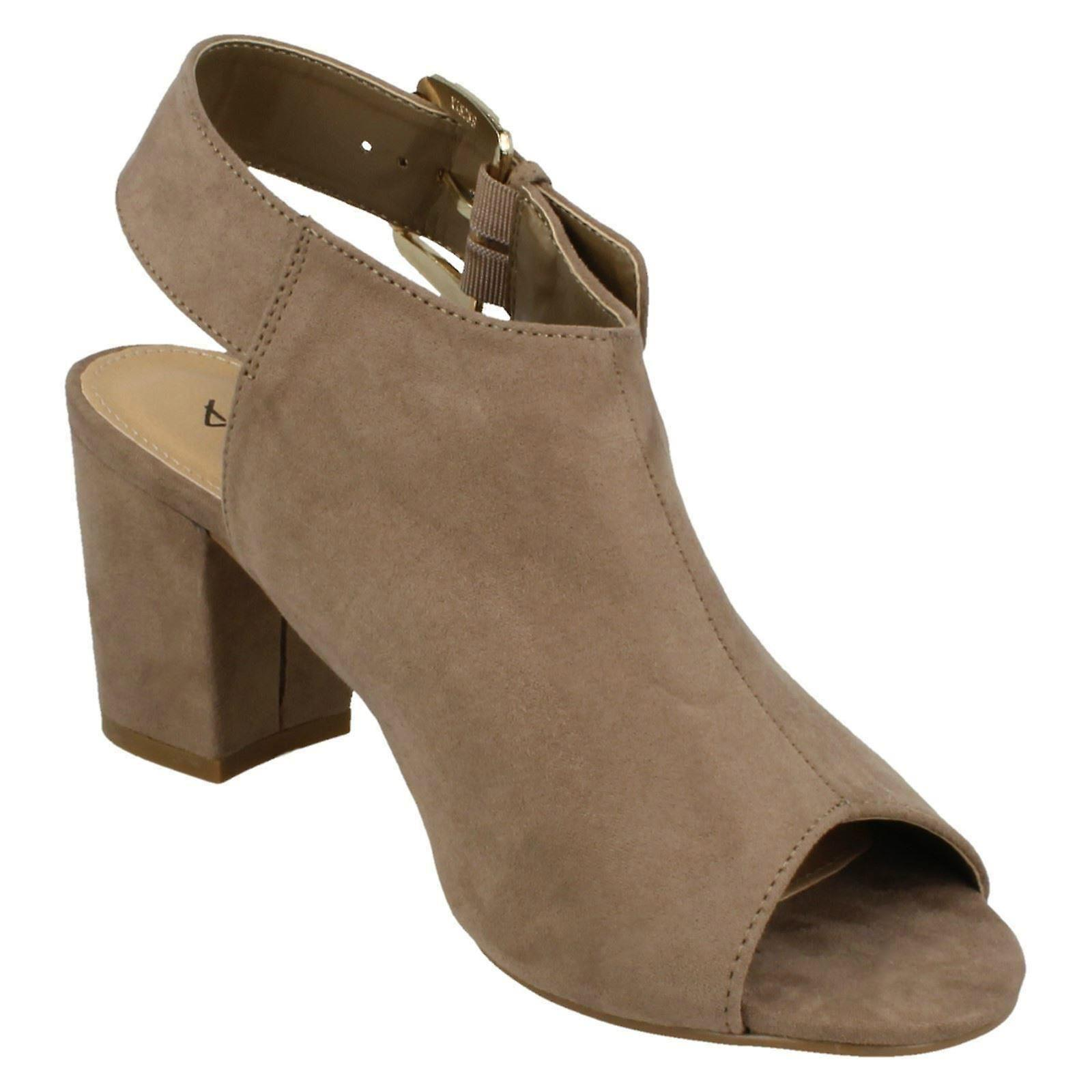 Ladies Anne Michelle Buckle Sling Strap Mules F10672
