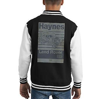 Haynes Workshop Manual Land Rover Stripe Kid's Varsity Jacket