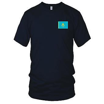 Drapeau National du pays de Kazakhstan - Logo - brodé 100 % coton T-Shirt Ladies T Shirt
