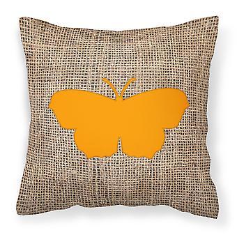 Farfalla della tela da imballaggio e tela arancione tessuto cuscino decorativo BB1049