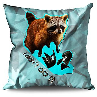 Racoon Beast Cute Linen Cushion 30cm x 30cm | Wellcoda