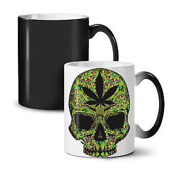 Skull Weed Stoner Rasta NEW Black Colour Changing Tea Coffee Ceramic Mug 11 oz | Wellcoda