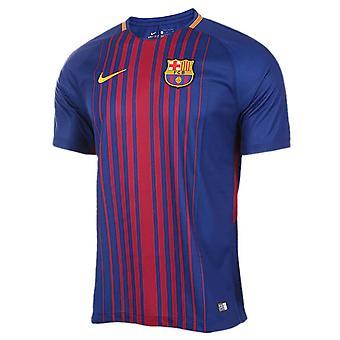 2017-2018 Barcelona thuis voetbalshirt Nike (geen Sponsor)