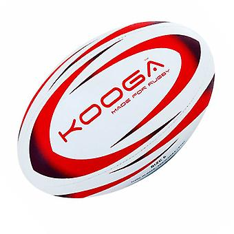 Kooga Durban Rugby Ball [White/Red]-Size 5