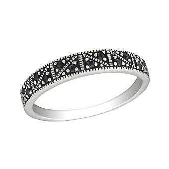 Patterned - 925 Sterling Silver Jewelled Rings - W30145x