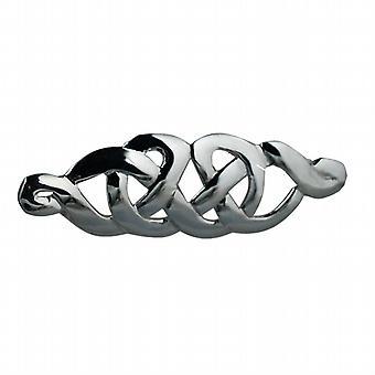 Sølv 13x41mm keltiske knude design broche