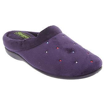 Sleepers Womens/Ladies Charley Extra Comfort Memory Foam Velour Mule Slippers