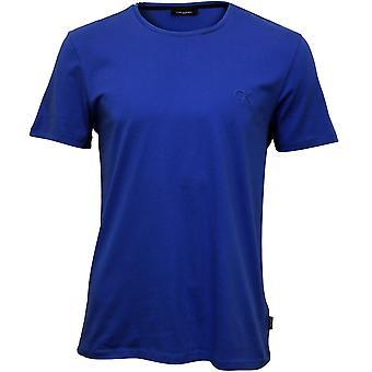 Calvin Klein Jari preget Logo Crew-hals t-skjorte, olympiske blå
