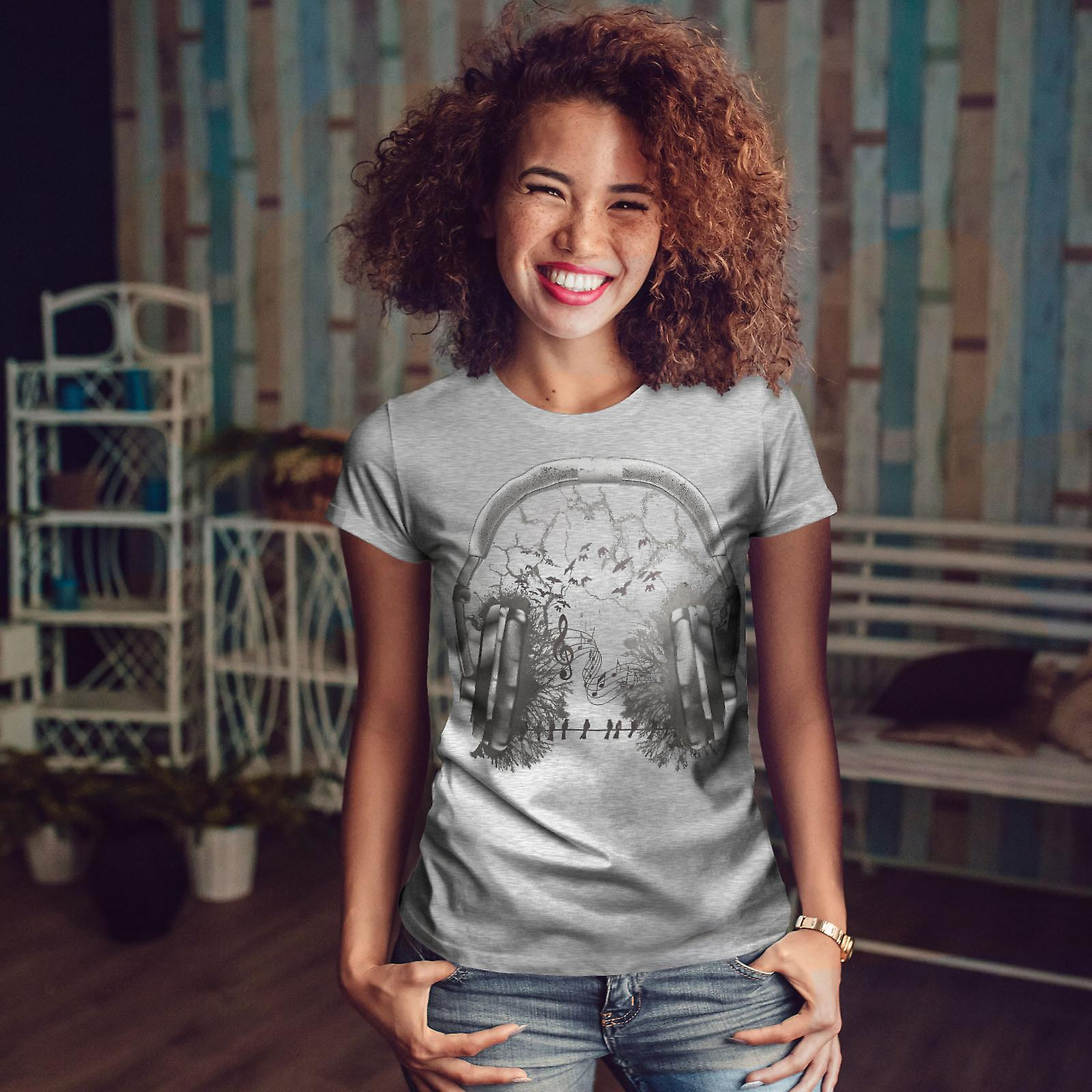 Casque forestier GreyT-chemise femme | Wellcoda