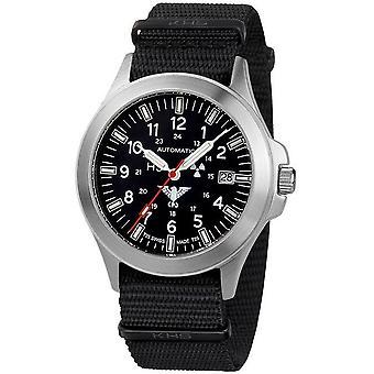 KHS - Wristwatch - Men - Platoon Automatic with Nato Band Black - KHS.PA.NB