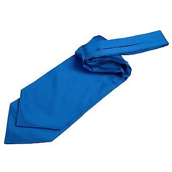 Electric Blue Plain sposa con laccetti in foulard