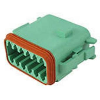 TE Connectivity DT06-12SC-CE06 Bullet connector Socket, straight Series (connectors): DT Total number of pins: 12 1 pc(s)