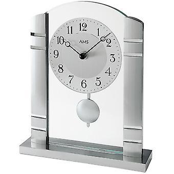 Table clock aluminium with pendulum quartz table clock quartz watch