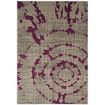 Webteppich Kurzflor Wohnzimmer Indoor Teppich grau lila Indoor Rugs - Pacific Abstract Grey Purple 70 / 275 cm  - Teppich für den Wohnbereich innen