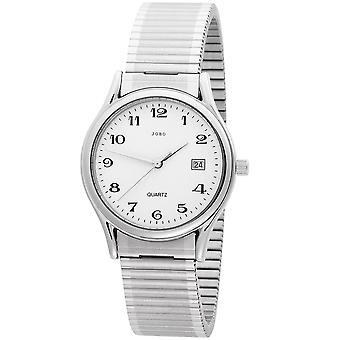 Pánské hodinky z nerezavějící oceli Náramkové hodinky pro Pánské křemenné hodinky