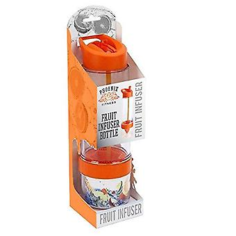 Phoenix Fitness Odour Resistant Fruit Infuser Unisex Outdoor Water Bottle Orange - 650 ML