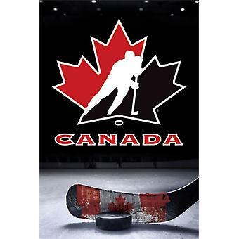 Hockey Canada - Logo affisch Skriv