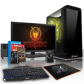 Felle APACHE Gaming PC, snelle Intel Core i5 7400 3,5 GHz, 1 TB SSHD, 8GB RAM, GTX 1660 6GB