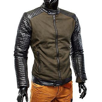 Miesten talvi takki Hells Devil biker nahkatakki tikattu design nahka