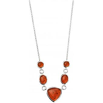 Beginnings Amber Multi Shape Necklace - Amber/Silver