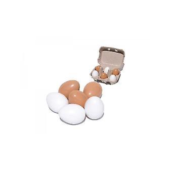 Bare for barna seks egg i en boks