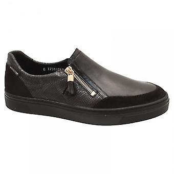 Mephisto Side Zip Textured Moccasin