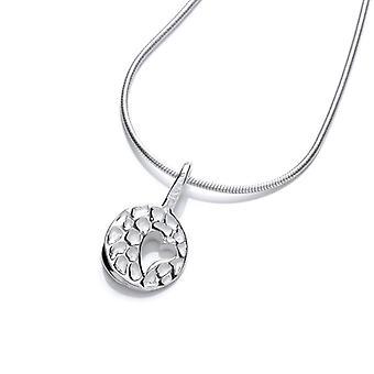 Cavendish Français petit battement de coeur argent pendentif sans chaîne