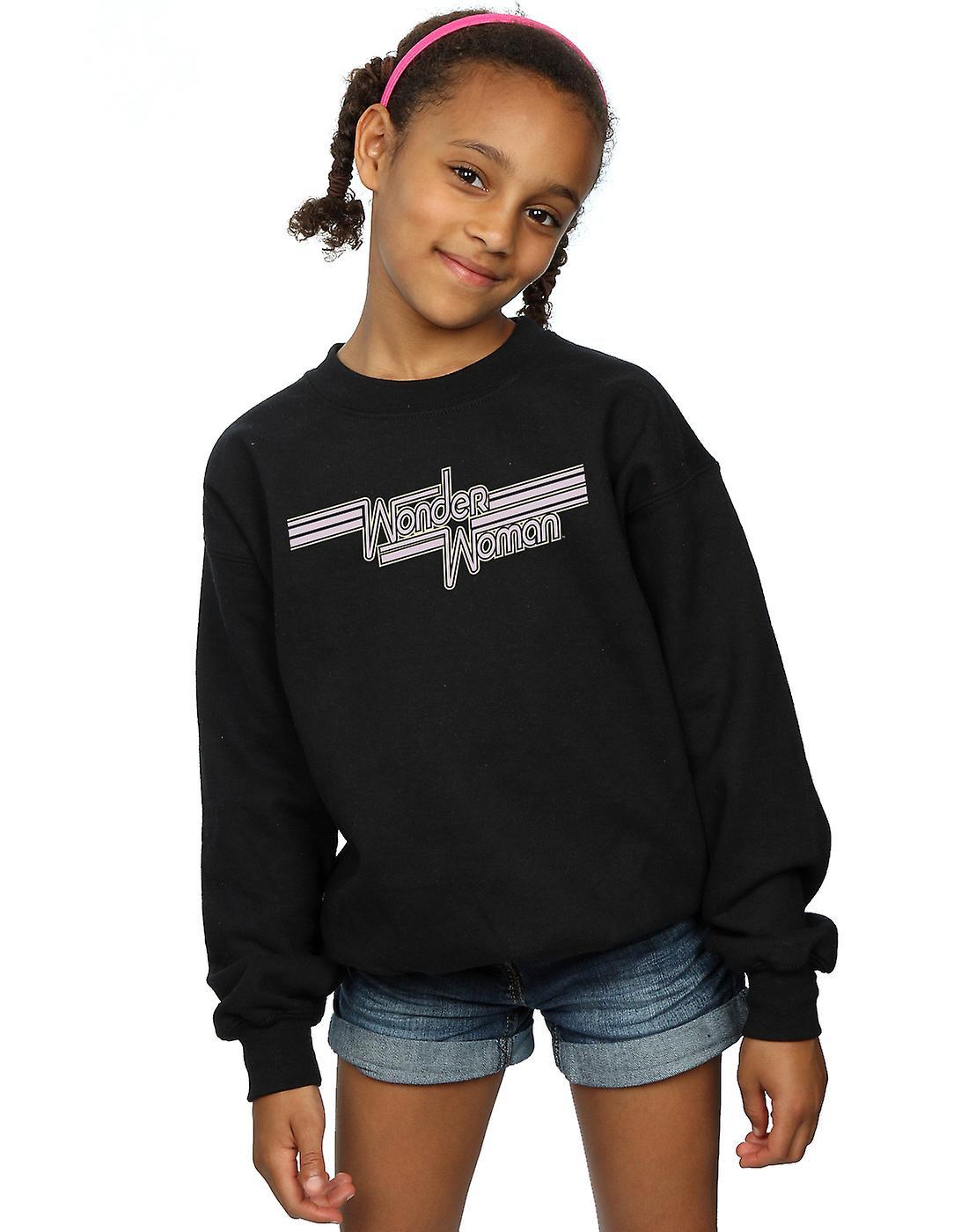 DC Comics Girls Wonder Woman Lines Logo Sweatshirt