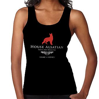 Játék a Bones House alsatian játék a trón paródia nők ' s Vest