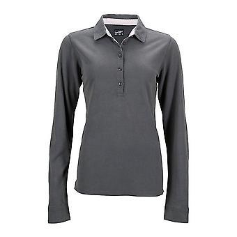 James and Nicholson Womens/Ladies Long-Sleeve Polo