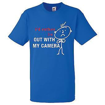 Mens que eu preferiria estar com minha câmera azul Royal Tshirt