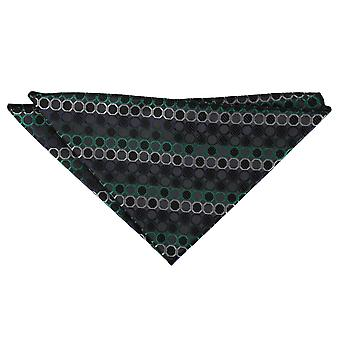 Black, Green & Silver Honeycomb Polka Dot Pocket Square